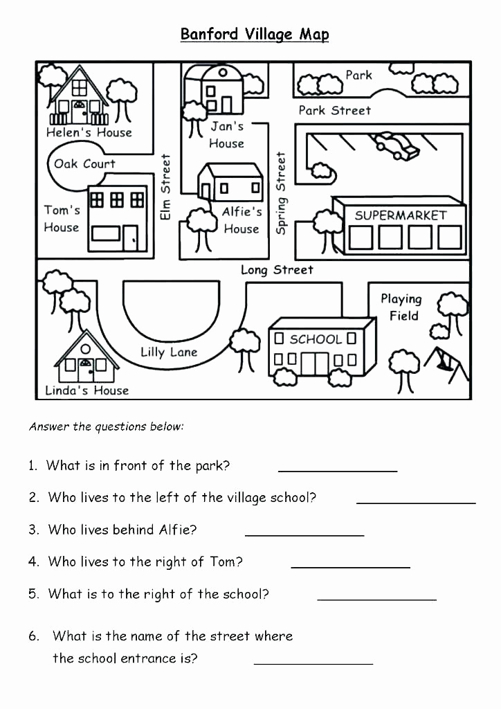 Map Skills Worksheets Answers Awesome Middle School Map Skills Worksheets Sixth Geography Skills