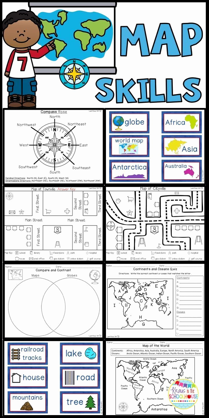 Map Skills Worksheets Answers Inspirational Map Skills Worksheets and Activities