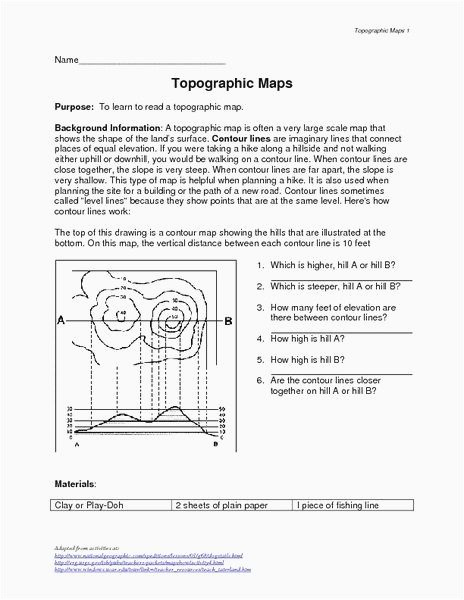 Map Skills Worksheets Answers Inspirational Map Skills Worksheets Middle School