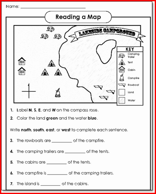 Map Skills Worksheets Answers Lovely Free Map Skills Worksheets – Worksheets Samples