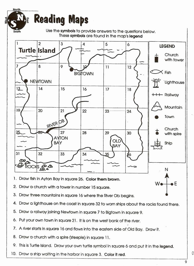 Map Skills Worksheets Answers Lovely Weather Map Interpretation Worksheet Answers social Stu S