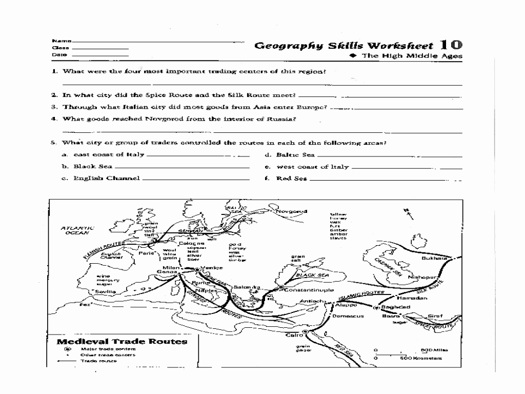 Map Skills Worksheets Answers Luxury Geography Skills Worksheet High Middle Ages Worksheet for