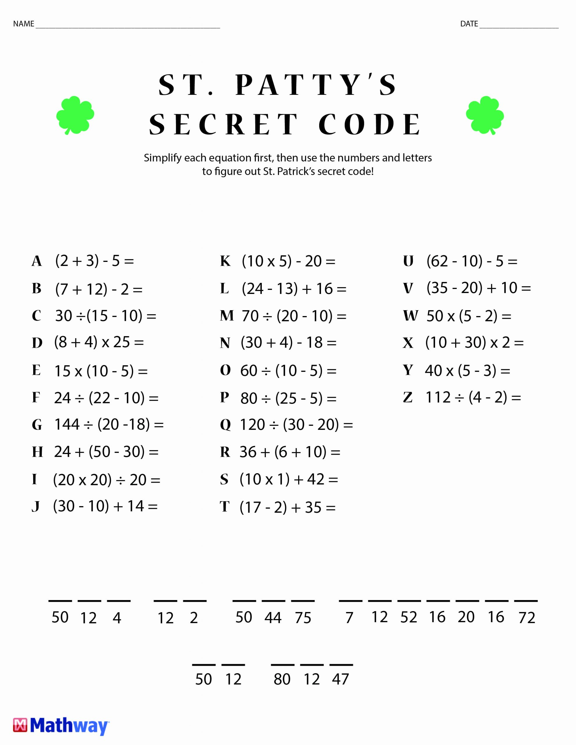 Math Secret Code Worksheets Awesome Pin On Math Worksheets