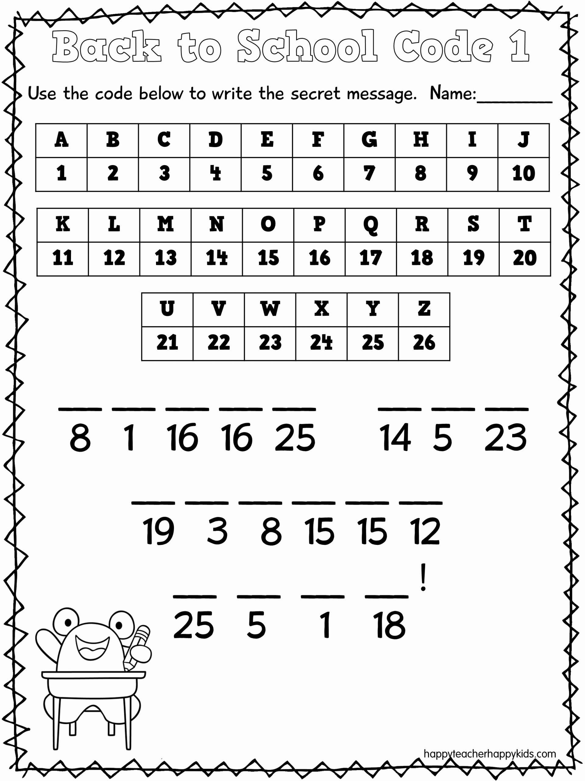Math Secret Code Worksheets New 12 Best Of Secret Code Worksheets Secret Code