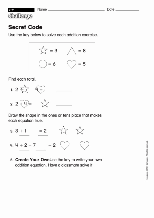 Math Secret Code Worksheets New Secret Code Math Worksheet with Answers Printable Pdf