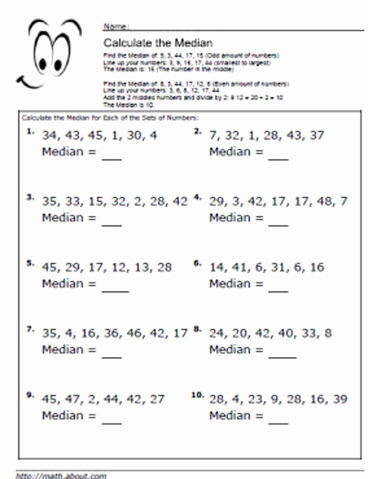 Mean Median Mode Worksheets Kuta Best Of Measures Central Tendency Worksheet Answers