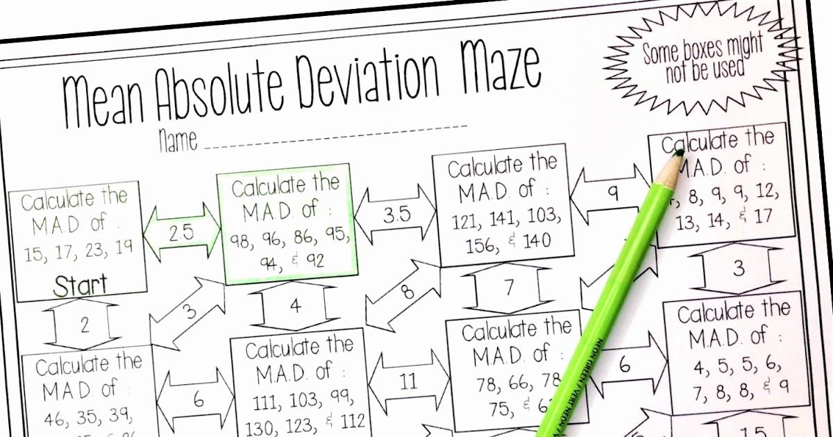 Mean Median Mode Worksheets Kuta Inspirational Mean Absolute Deviation Worksheet Kuta Worksheet