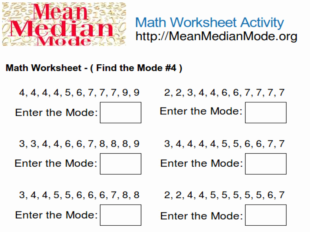 Mean Median Mode Worksheets Kuta Inspirational Worksheet Find the Median Worksheet Worksheet Fun