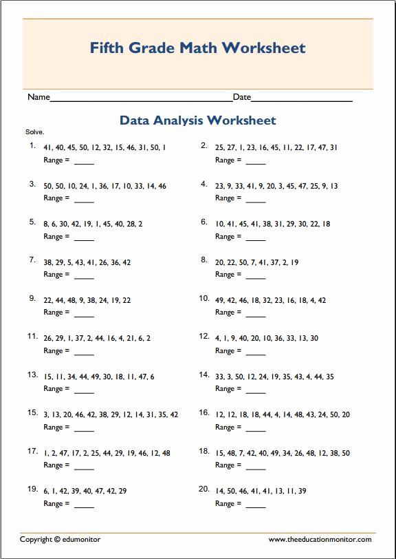Mean Mode Median Worksheets Best Of Mean Median Mode Range Printable Worksheets Archives