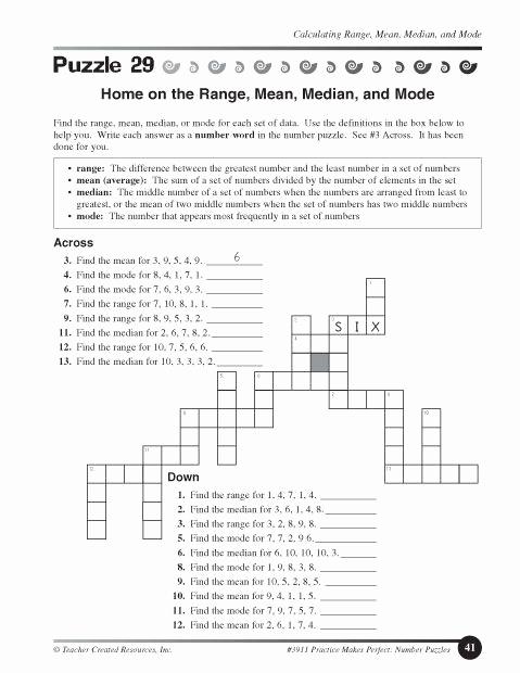 Mean Mode Median Worksheets Inspirational Mean Median Mode