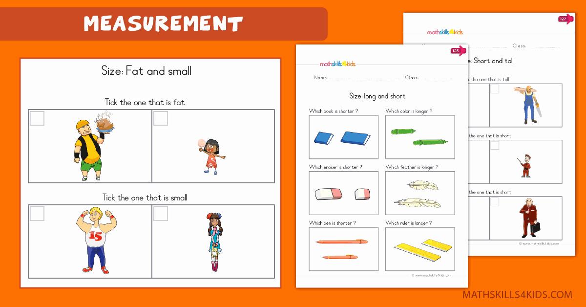 Measurement Estimation Worksheets Elegant Measurement Worksheets for Kindergarten Pdf