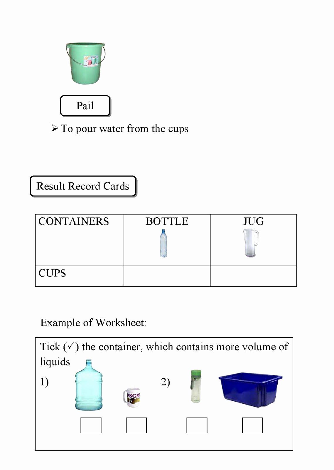 Measurement Volume Worksheets Beautiful 50 Measuring Liquid Volume Worksheet In 2020