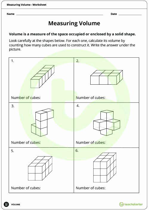 Measurement Volume Worksheets Best Of Measure Capacity Worksheet
