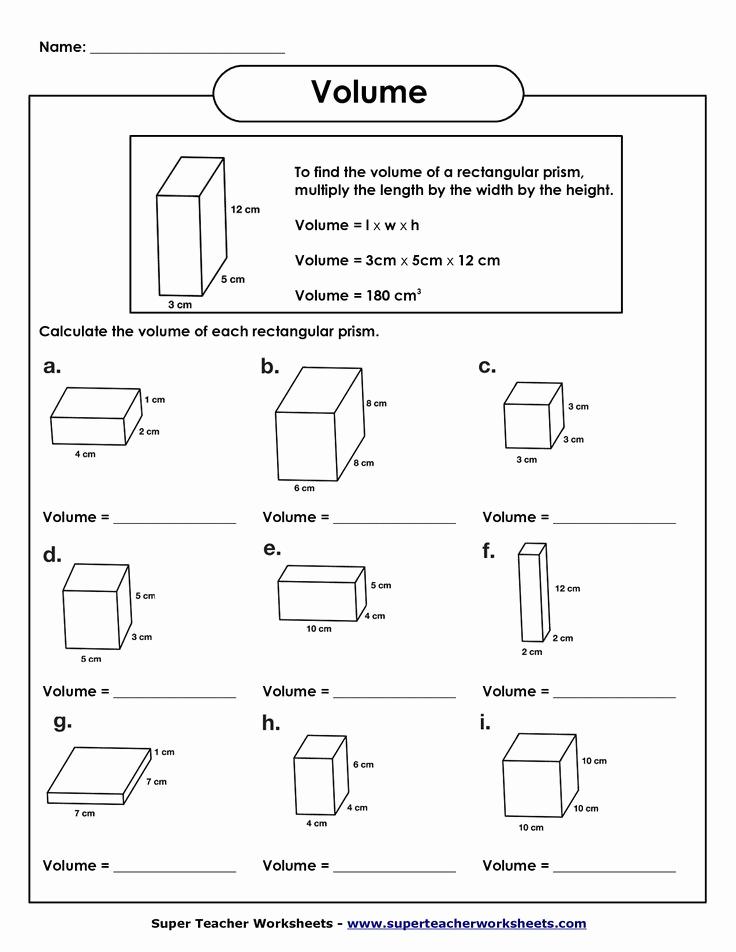 Measurement Volume Worksheets Best Of Volume Of Rectangular Prism Worksheet