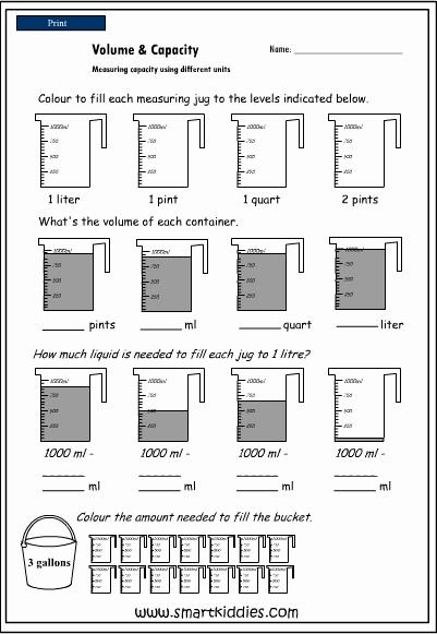 Measurement Volume Worksheets Inspirational 11 Best Of Measureing Volume Worksheets Grade 2