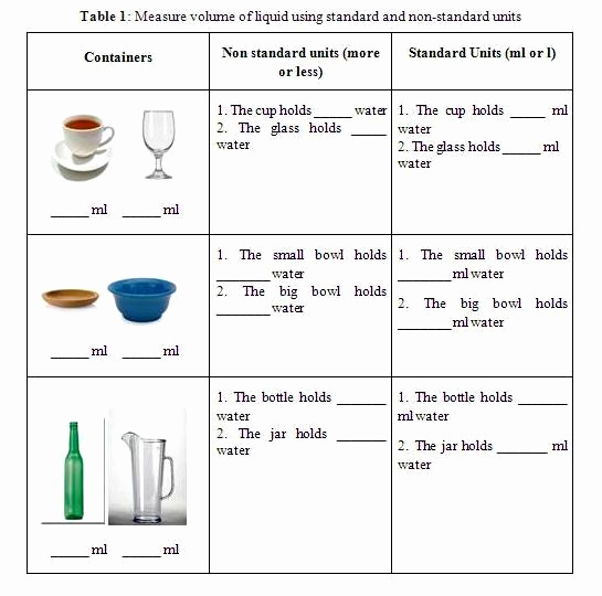 Measurement Volume Worksheets Inspirational Hbmt 2103 Teaching Matematics In Year Two Measuring the
