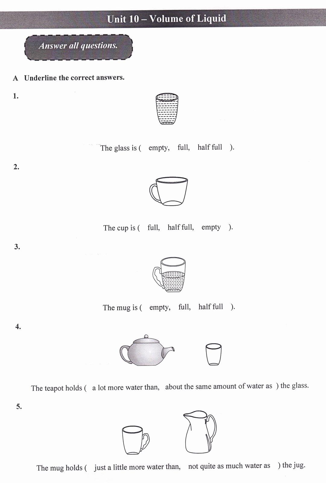 Measurement Volume Worksheets Lovely 50 Measuring Liquid Volume Worksheet