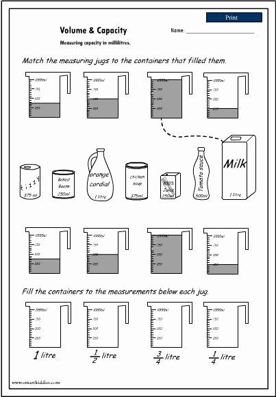 Measurement Volume Worksheets Unique 50 Measuring Liquid Volume Worksheet In 2020