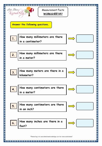 Measurement Worksheet Grade 3 Beautiful Grade 3 Maths Worksheets 11 1 Measurement Facts Lets