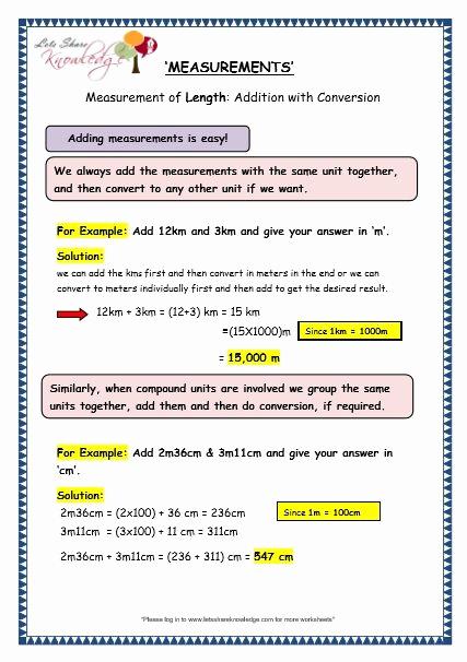 Measurement Worksheet Grade 3 Beautiful Grade 3 Maths Worksheets 11 3 Measurement Of Length