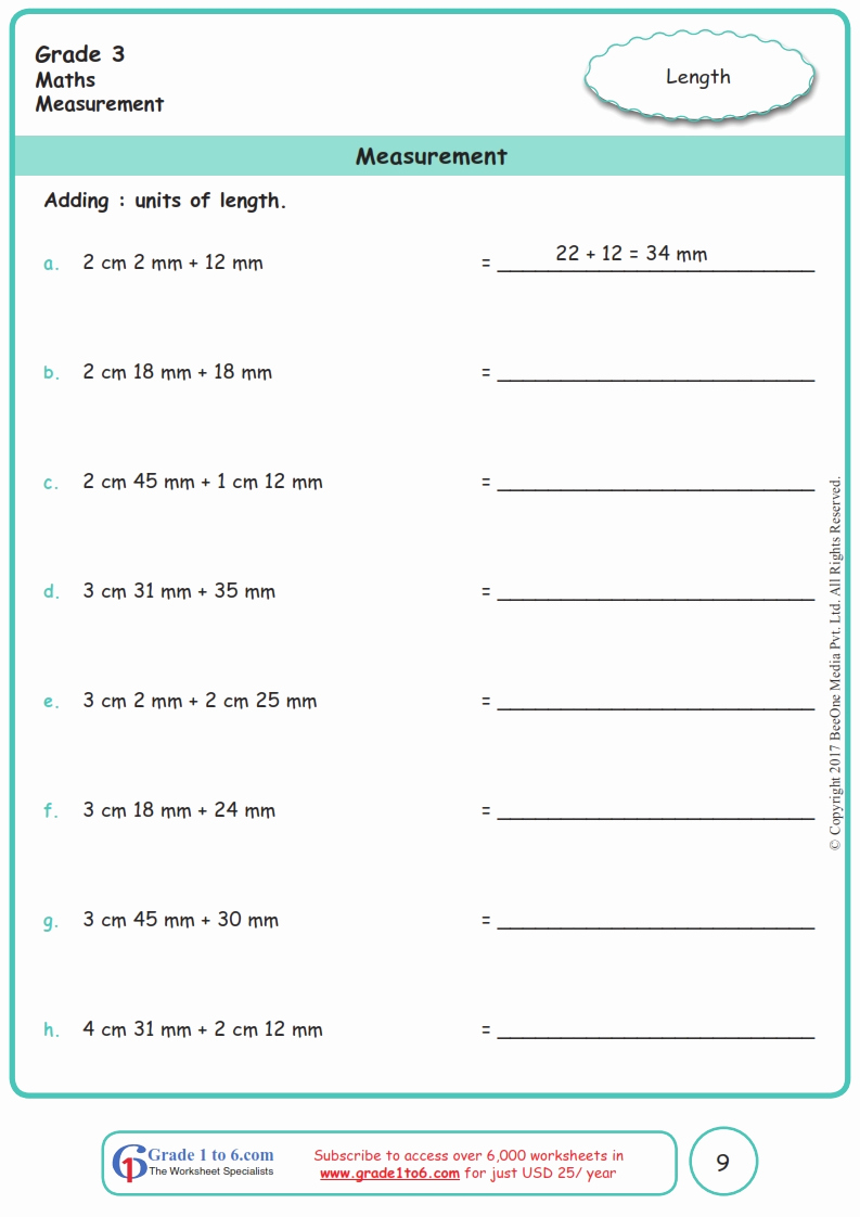 Measurement Worksheet Grade 3 Inspirational Grade 3 Measurement Worksheets