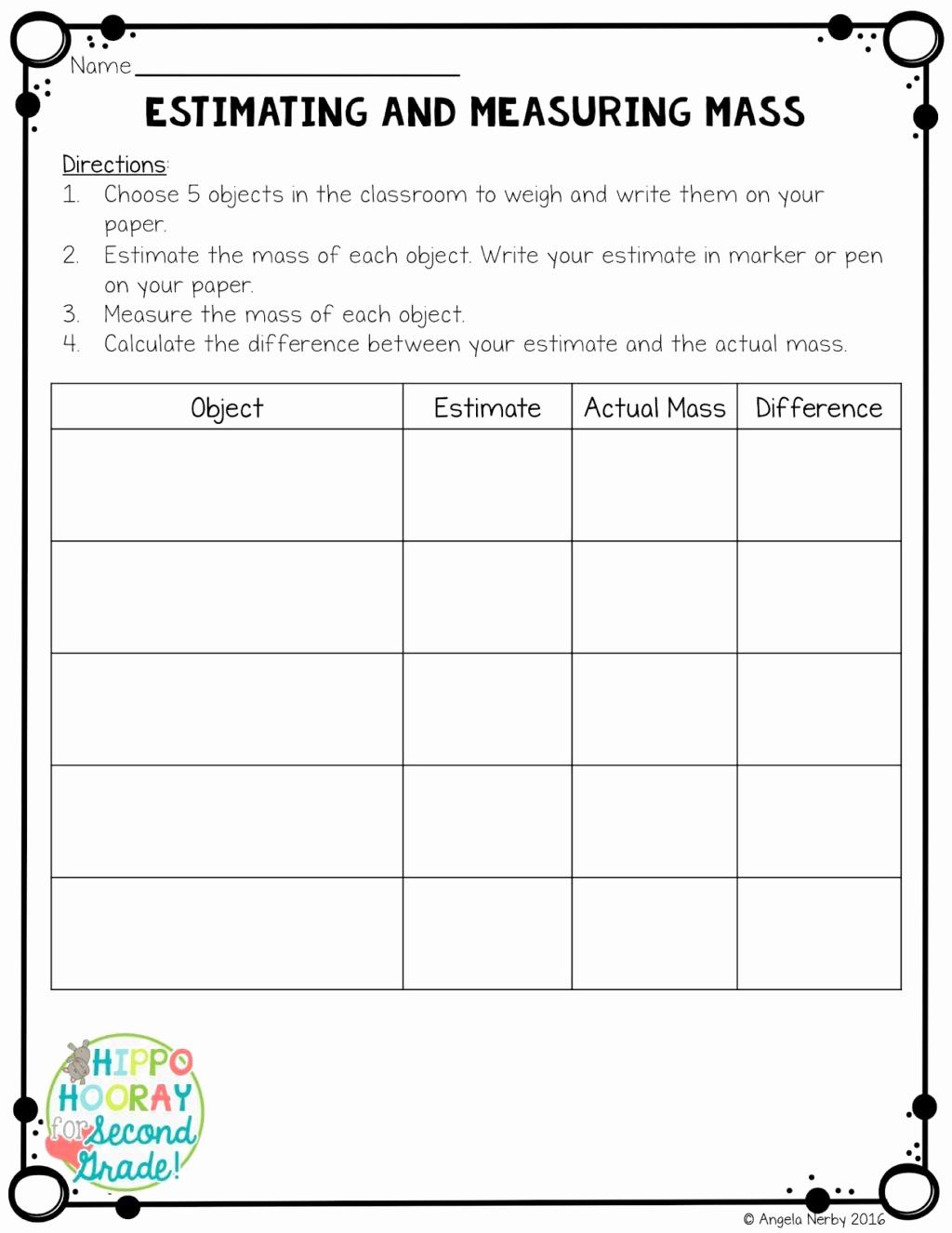 Measurement Worksheet Grade 3 Luxury 3rd Grade Measuring Worksheets