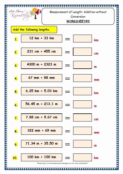 Measurement Worksheet Grade 3 New Grade 3 Maths Worksheets 11 4 Measurement Of Length