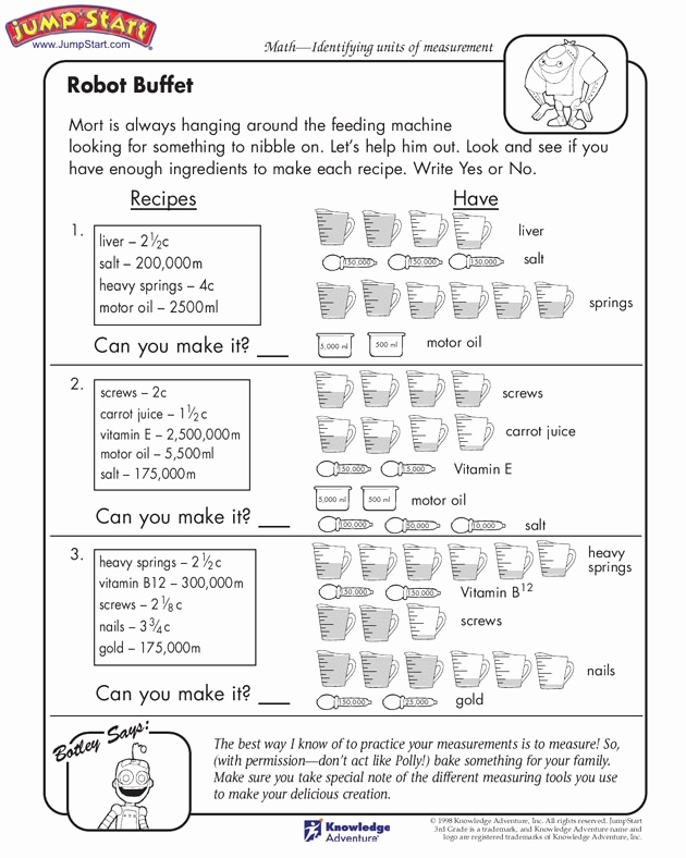 Measurement Worksheets for 3rd Grade Luxury 20 Best Images About Measurement Third On Pinterest