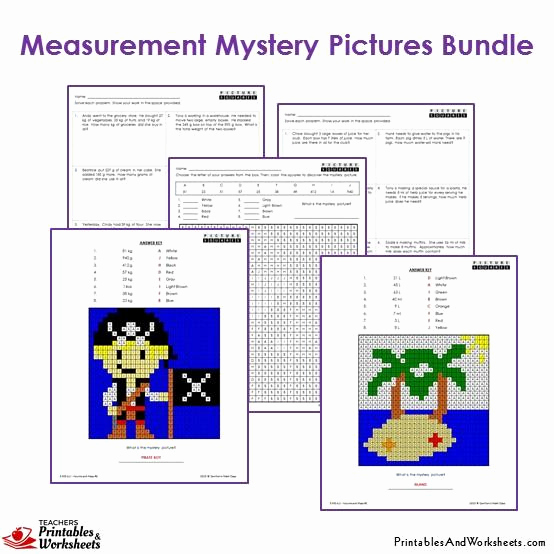Measurement Worksheets for 3rd Grade Luxury 3rd Grade Measurement Mystery Coloring Worksheets