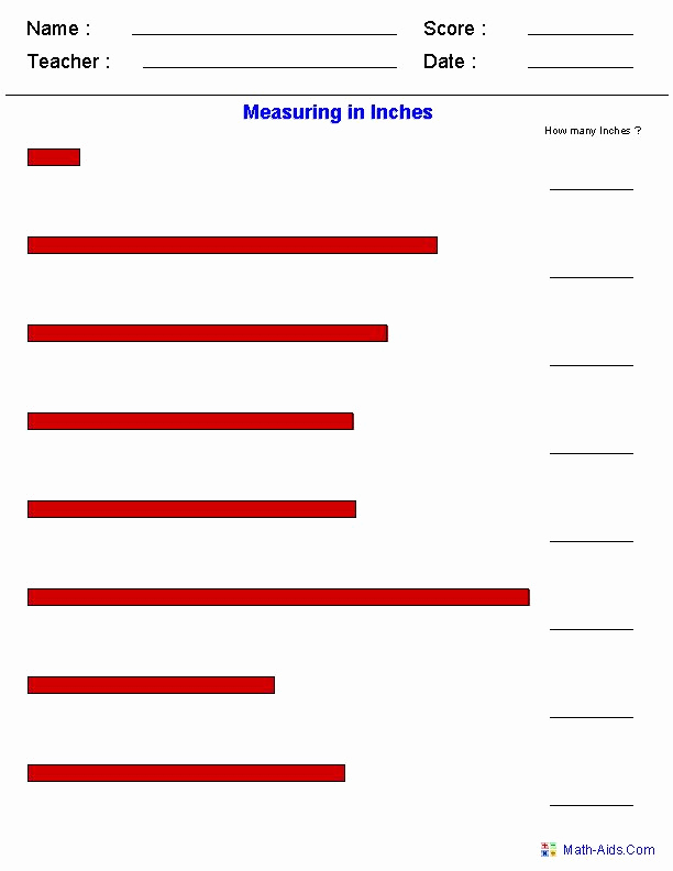 Measuring In Inches Worksheets Lovely Measuring In Inches Worksheets Measurement