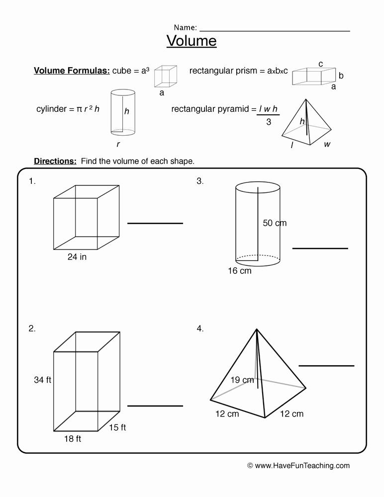 Measuring Volume Worksheets Beautiful Volume Worksheets