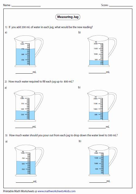Measuring Volume Worksheets Best Of Capacity Worksheets