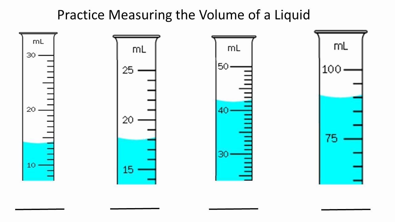 Measuring Volume Worksheets Elegant 50 Measuring Liquid Volume Worksheet