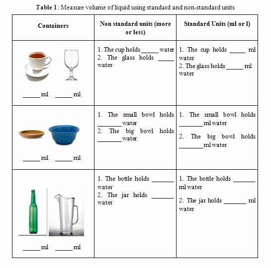 Measuring Volume Worksheets Lovely 50 Measuring Liquid Volume Worksheet In 2020 with Images