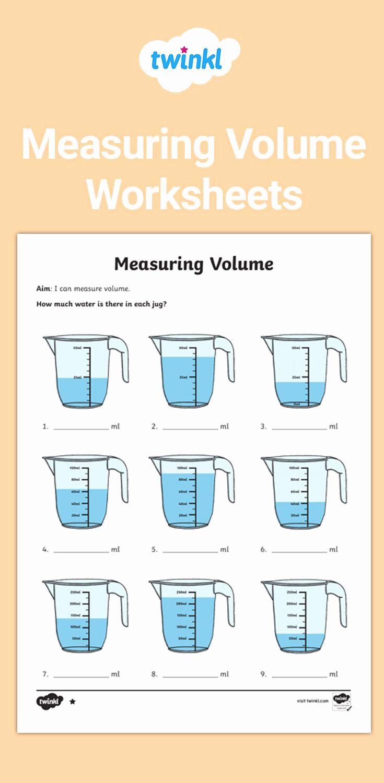 Measuring Volume Worksheets Luxury 30 Measuring Volume Worksheets