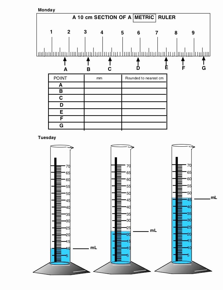 Measuring Volume Worksheets Unique Length & Volume Worksheet