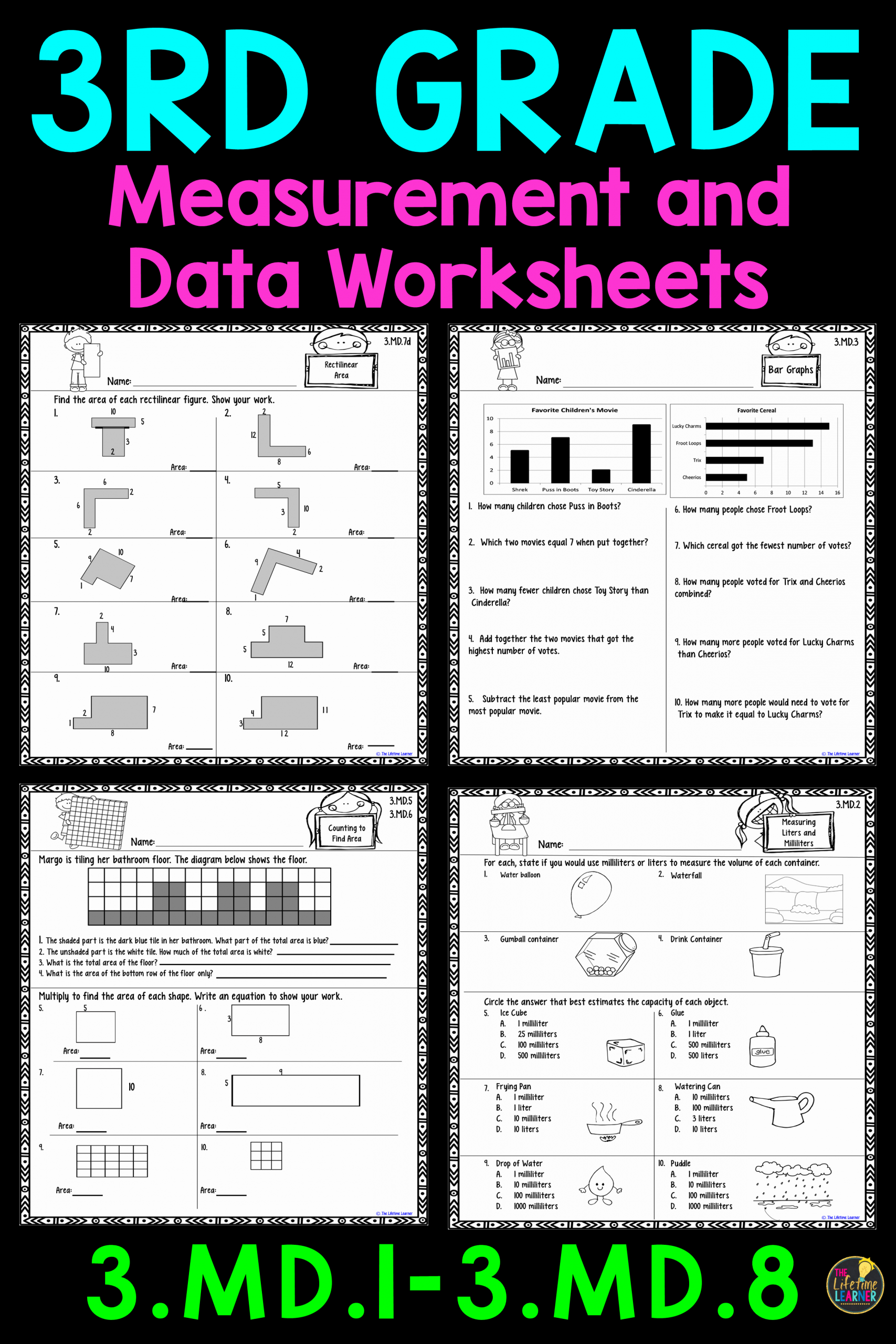 Measuring Worksheets for 3rd Grade Luxury Measurement Practice 3rd Grade Measurement Worksheets