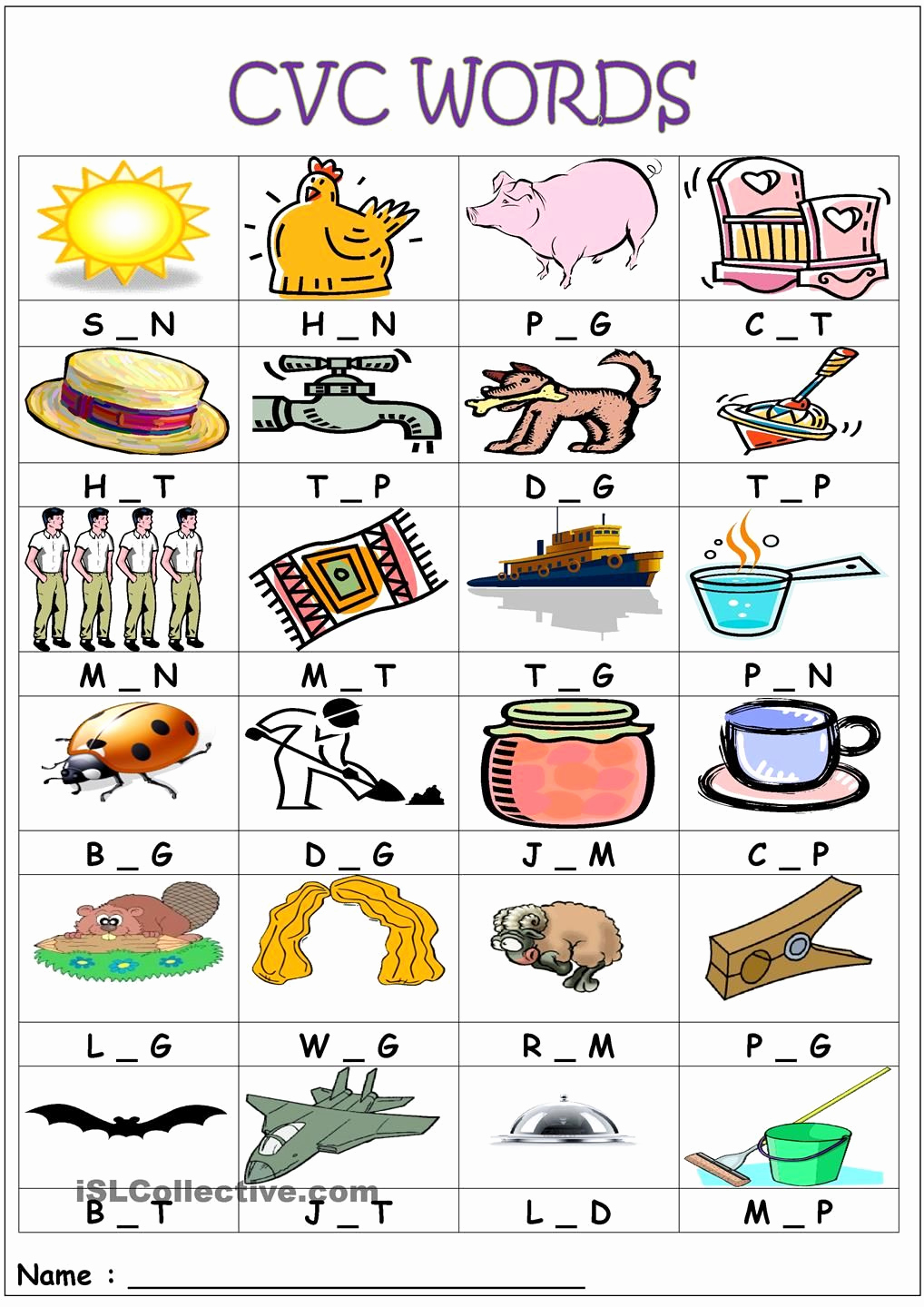 Medial sounds Worksheets First Grade Elegant Cvc Words Medial sounds