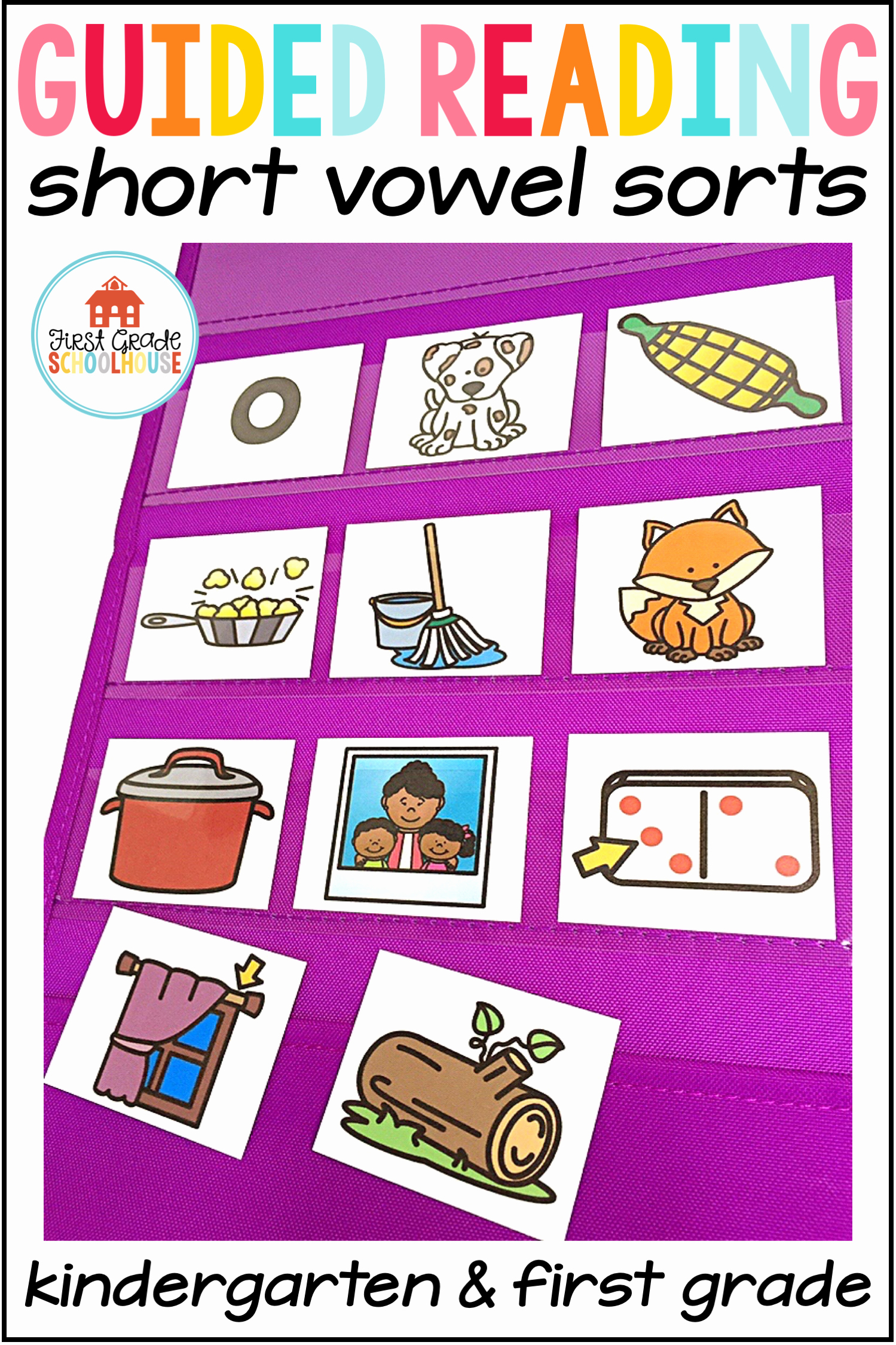 Medial sounds Worksheets First Grade Elegant Guided Reading sound sorts Medial Short Vowel sounds