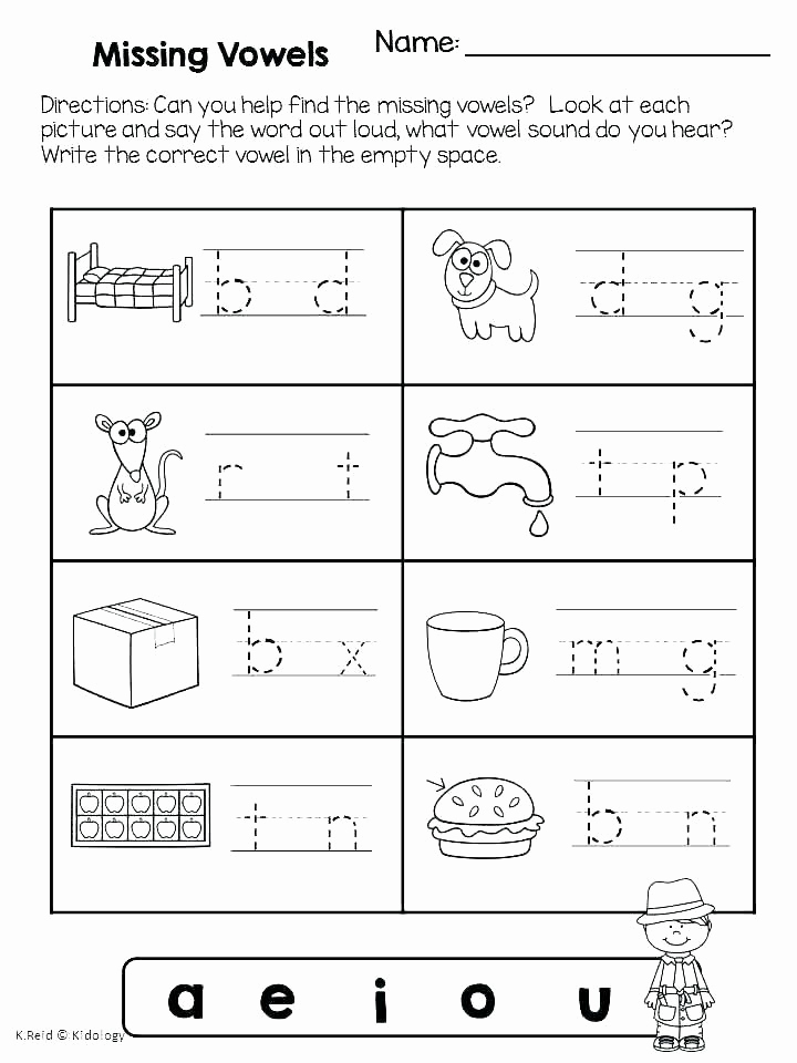 Medial sounds Worksheets First Grade Luxury Medial sounds Worksheets First Grade Medial sound