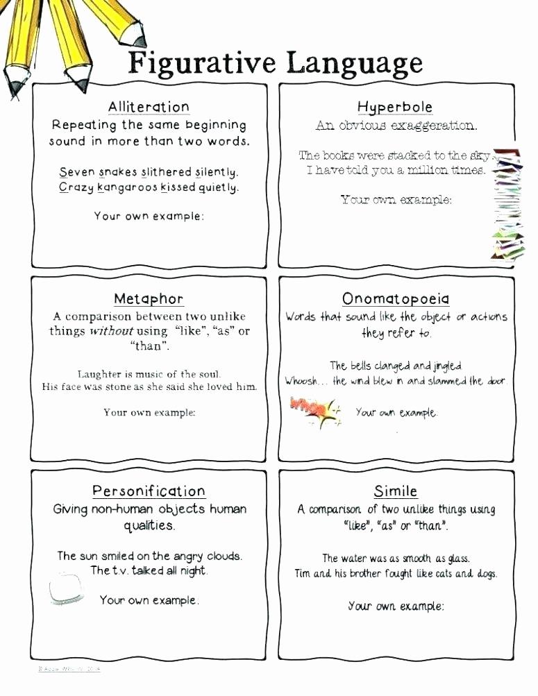 Metaphor Worksheet Middle School Unique Métaphore Exemple Poésie