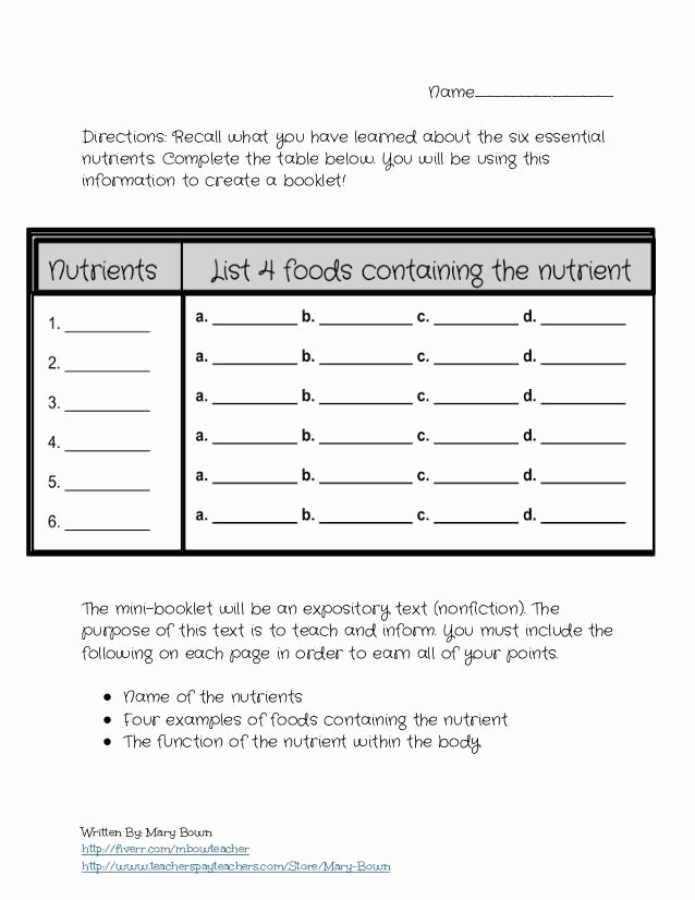Middle School Health Worksheets Unique Nutrition Worksheets Pdf