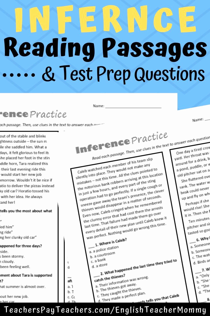 Middle School Inference Worksheets Lovely Inference Practice Quizzes