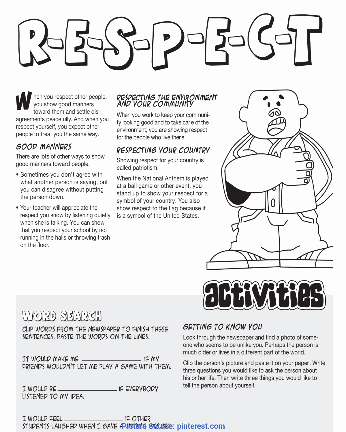 Middle School Life Skills Worksheets Beautiful Regular Teaching Activities for High School Respect An
