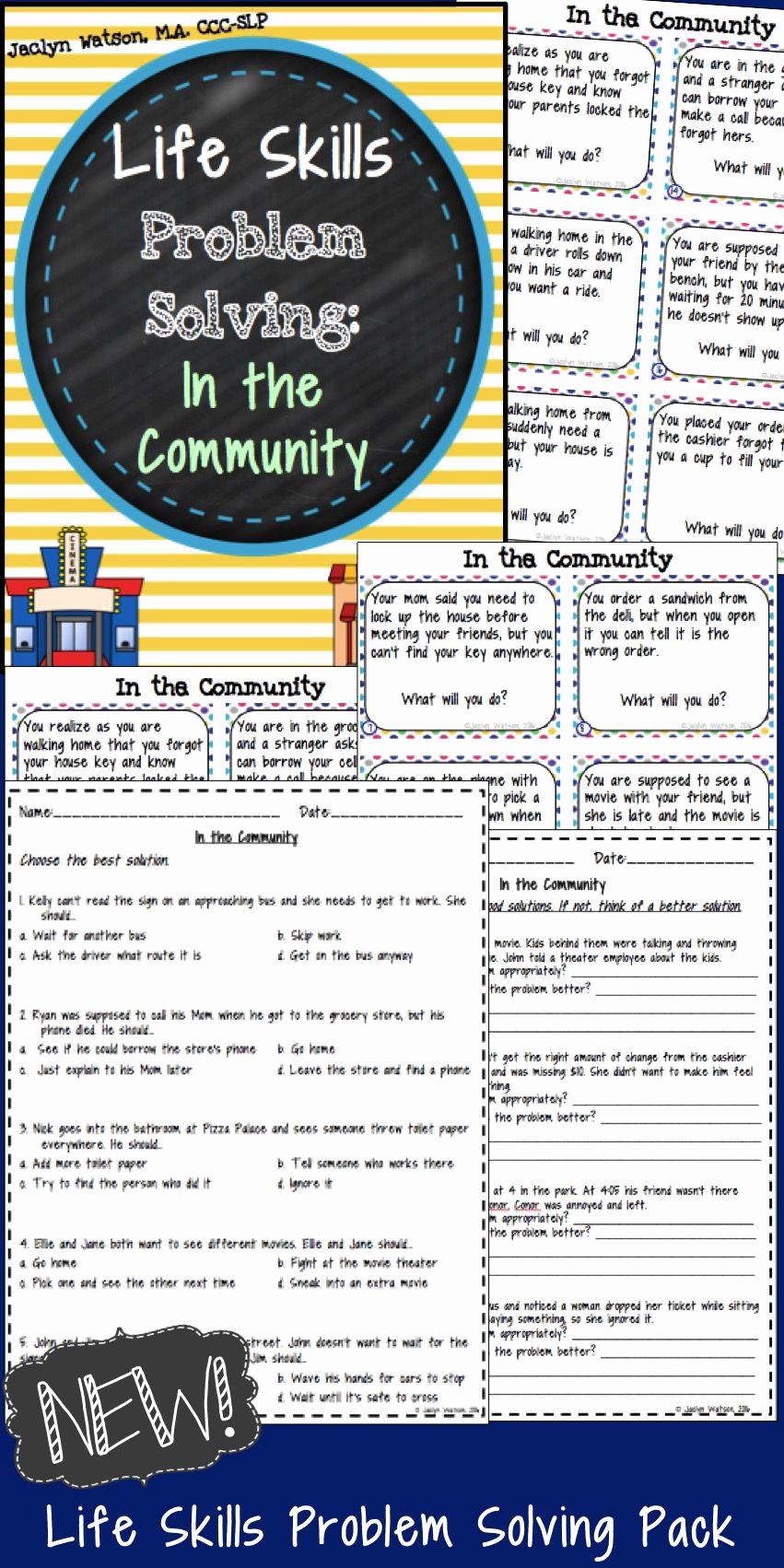 Middle School Life Skills Worksheets Inspirational Professionally 20 Middle School Life Skills Worksheets