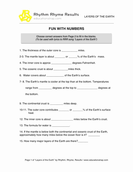 Middle School Science Worksheets Pdf Lovely 50 Layers the atmosphere Worksheet In 2020