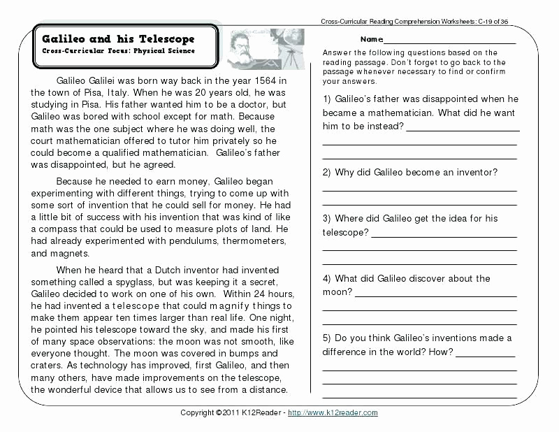 Middle School Science Worksheets Pdf Unique Science Reading Prehension Worksheets Middle School Pdf
