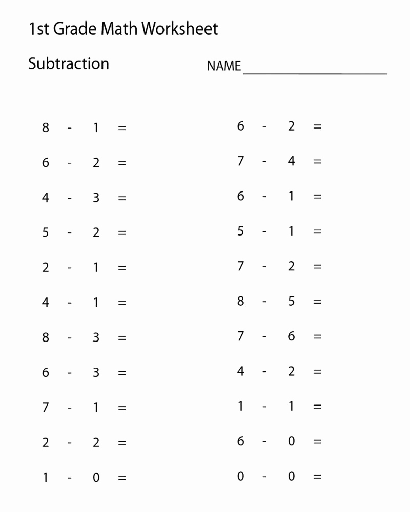 Minute Math Worksheets 1st Grade Awesome 1st Grade Free Printable Minute Math Worksheets