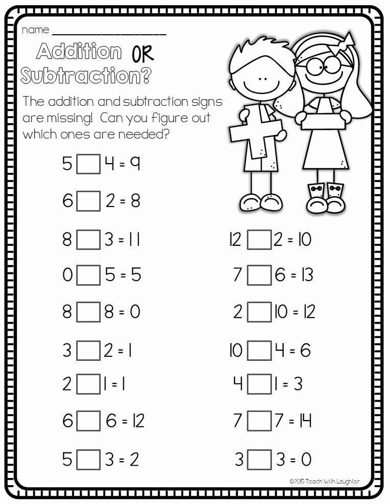 Minute Math Worksheets 1st Grade Best Of Teach with Laughter