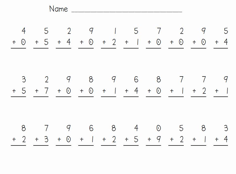 Minute Math Worksheets 1st Grade Inspirational Missing Number Worksheet New 952 Missing Number Addition